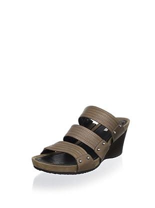Geox Women's Roxy 35 Wedge Sandal (Brown)