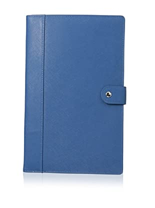 Morelle & Co. Naomi Saffiano Leather Jewelry Notebook, Blue