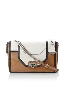 Rebecca Minkoff Women's Allie Convertible Handbag with Zippered Gussets, Cream/Black