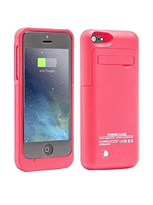 Unotec Funda Con Batería Para iPhone 5/5S/5C Powercase Rosa