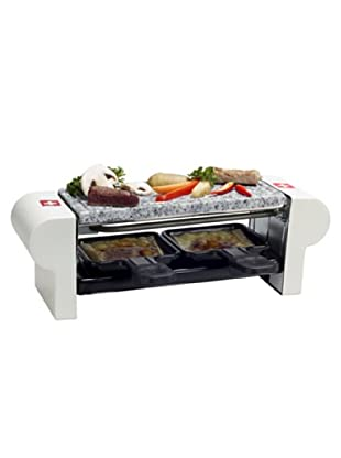 Nouvel 2er Raclette Stone Swiss Edition inox/weiß