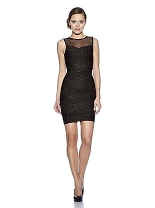 Corizzi & Absolu Vestido Canesú Transparente Cóctel (Negro)