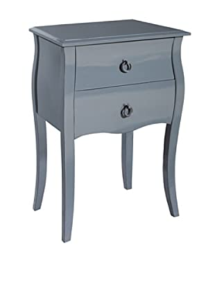 Gallerie Décor Lido Double-Drawer Accent Table, Grey
