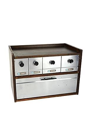 Uptown Down 1960s Bread Box & Storage Caddy