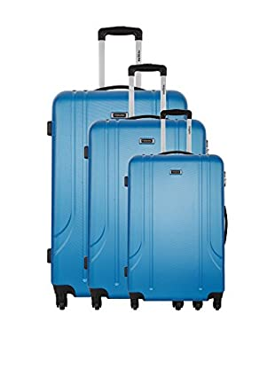 RENOMA Set de 3 trolleys rígidos Luchini Azul