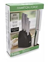 Hampton Forge Kobe 5-Piece Utility Knife Set with Half Moon Block, HMC01A237P