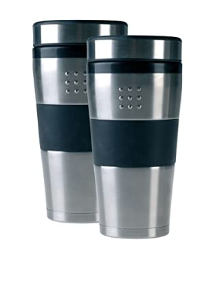 BergHOFF Set of 2 Orion 16-Oz. Travel Mugs, Silver