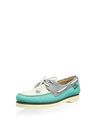 Eastland Men's Washburn 1955 2-Eye Boat Shoe (Teal/Bone)