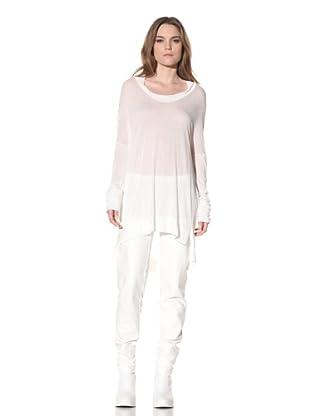 Ann Demeulemeester Women's Long Sleeve Tunic (Off-White)