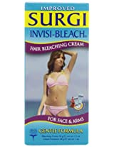 Surgi Invisi-bleach Hair Bleaching Cream For Face & Arms, 1.5-Ounce Bottles Cream Activator 1 Oz (Pack of 3).