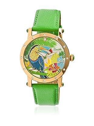Bertha Uhr mit Japanischem Quarzuhrwerk Gisele grün 41 mm
