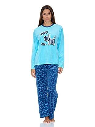 Bluedreams Pijama Tundosado (Turquesa)