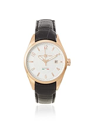 Officina del Tempo Men's OT1037/430BGM Elegance Brown/White Leather Watch