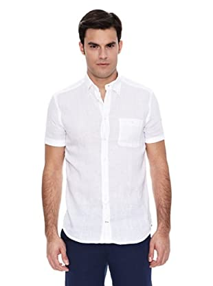 Pedro del Hierro Camisa Lino Liso Lavado (Blanco)