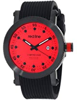 red line Men's RL-18000-05-BB Compressor Red Dial Black Silicone Watch
