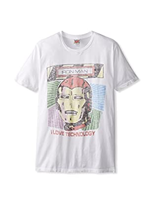 Junk Food Men's Iron Man Technology Crew Neck T-Shirt