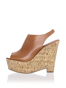 Elizabeth and James Women's Syler Slingback Wedge (Cognac)