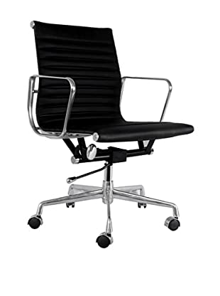 Mid-Century-Inspired Executive Office Chair (Black)