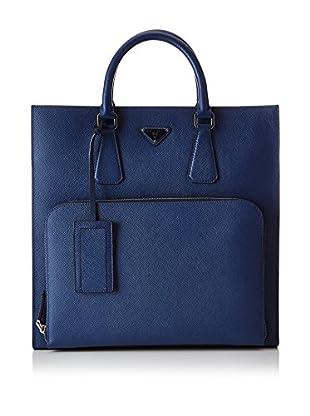 Prada Bolso asa de mano Logo Azul