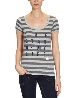 ONLY T-Shirt, gestreift (Grau)