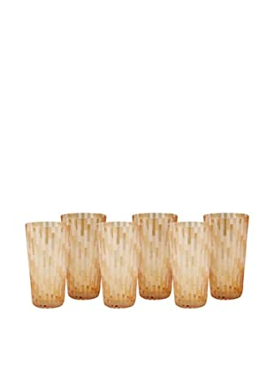 Impulse! Set of 6 Urban Water Glasses, Orange