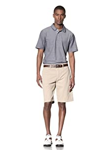 Hawke & Co Men's Heather Solid Pique Polo Shirt (Hawke Navy)