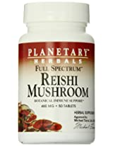 Planetary Herbals Full Spectrum Reishi Mushroom Tablets, 460 mg, 50 Count