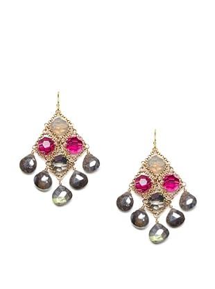 Diane Yang Chandelier Earrings, Laboradite