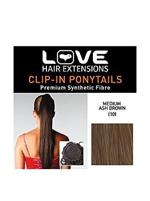 Love Hair Extensions Kunsthaar-Pferdeschwanz Silky Sue Kordelzug 51cm 10 Medium Ash Brown