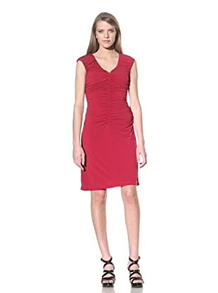 Calvin Klein Women's Sleeveless Ruched Dress (Claret)
