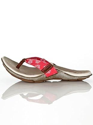 Cushe - Chanclas de cuero para mujer (Rojo (Rot (Coral)))