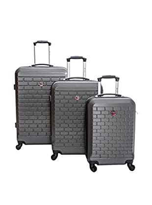 Geographical Norway Set de 3 trolleys rígidos Strass