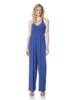 Susana Monaco Women's Halter Jumper Suit (Sapphire)