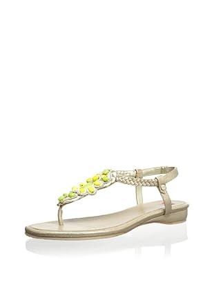Elaine Turner Women's Tatum Thong Sandal (Champagne/Banana/Kiwi Stone)