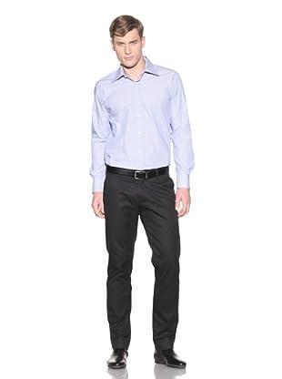 Valentino Men's Dress Shirt (Royal/White Stripe)