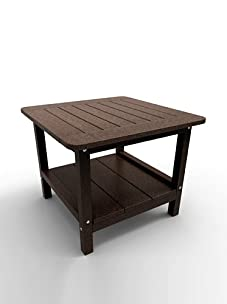 "Malibu Outdoor Furniture 24"" Square End Table (Dark Brown)"