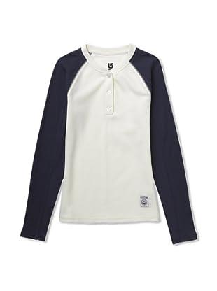 Burton Camiseta Técnicas WB Winhall (Vainilla / Azul)