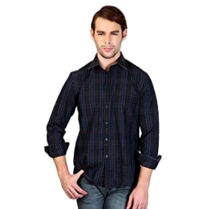 Allen Solly Checkered Casual Shirt In Custom Fit