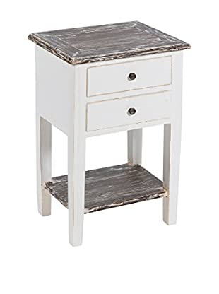 Colonial Style Beistelltisch weiß/braun