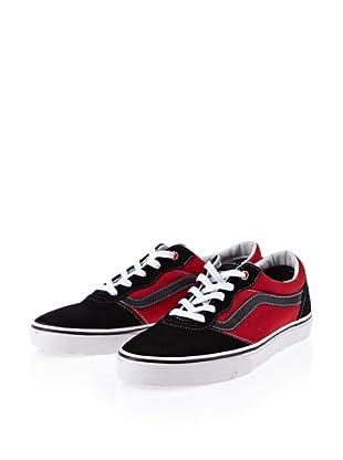 Vans Milton (Maurice) black/red VOYY458 - Zapatillas de ante para hombre (Negro)