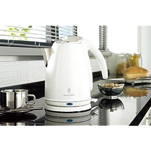 【クリックで詳細表示】Russell Hobbs スタイルホワイトケトル 13776JP: ホーム&キッチン