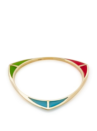 Katie Rowland Pink, Teal & Green Lilith Tri-2 Bangle