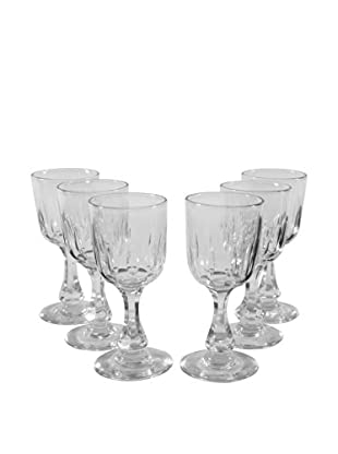 Set of 6 Cordial Glasses, Clear