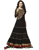 Helix Shraddha Kapoor Traditional Styles Long Black Designer Anarkali Suits