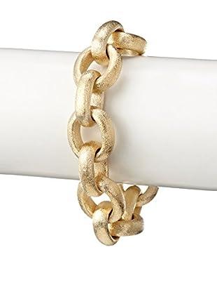 Rivka Friedman 18K Gold Clad Satin Bold Rolo Toggle Bracelet