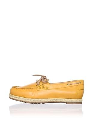 Be&D Women's Rittenhouse Studded Boat Shoe (Orange)