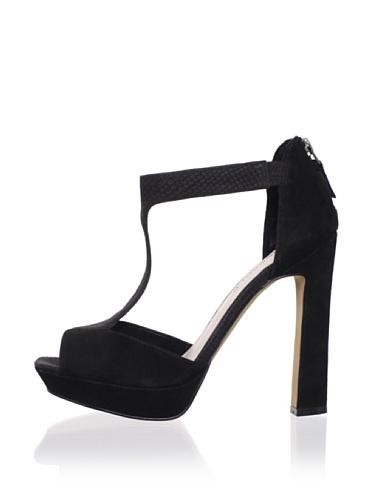 Rosegold Women's Suzanna T-Strap Pump (Black)