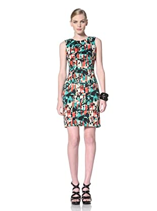 Calvin Klein Women's Stretch Knit Dress (Black/Caribbean Multi)
