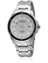 Citizen Eco-Drive Analog White Dial Men's Watch BM6921-58A