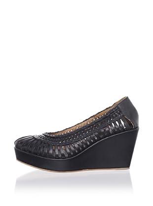 Fiel Women's Annet Woven Platform Wedge (Black)